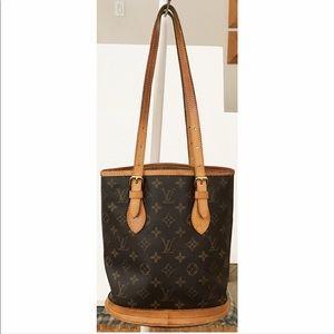 💯Authentic Louis Vuitton Bucket PM Shoulder Bag